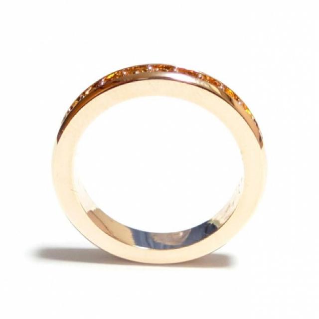 17号 フルエタニティ スワロフスキー トパーズ ピンクゴールドリング レディースのアクセサリー(リング(指輪))の商品写真