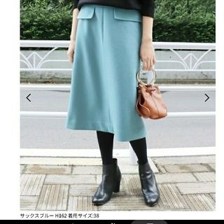 IENA SLOBE - SLOBE IENA  JSメルトンAラインスカート 38 ¥12960