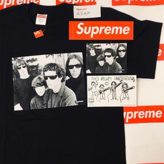 Supreme - 【ステッカー3枚付き/黒S】Supreme ヴェルヴェット アンダーグランド T