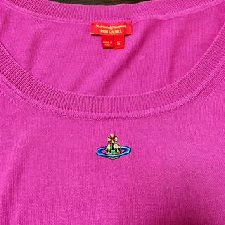 ヴィヴィアンウエストウッド(Vivienne Westwood)のVivienne Westwood◯カラーオーブ◯五分袖◯ピンク◯綿ニット(ニット/セーター)