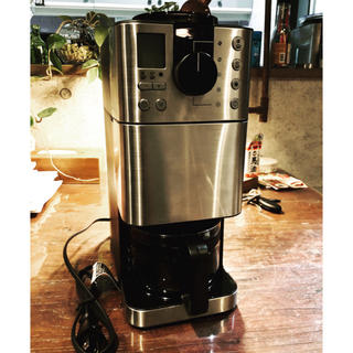 ムジルシリョウヒン(MUJI (無印良品))の【新品未使用】無印良品 豆から挽けるコーヒーメーカー(コーヒーメーカー)