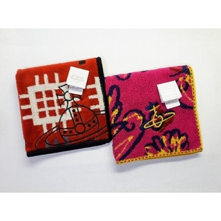 Vivienne Westwood - 【送料無料】未使用■ヴィヴィアンウエストウッド■オーヴ刺繍 タオルハンカチ■2枚