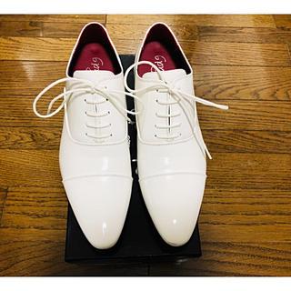 シークレットシューズ 白 メンズ 新郎 結婚式 7cm ブライダル ホワイト(ドレス/ビジネス)