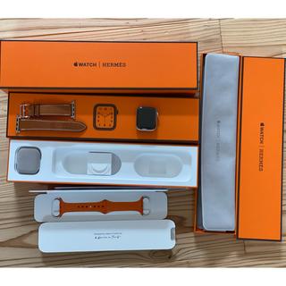 アップルウォッチ(Apple Watch)の美品!Apple Watch HERMES series4 ケア付き(腕時計(デジタル))