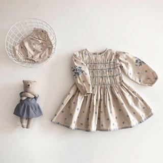 キャラメルベビー&チャイルド(Caramel baby&child )のKARI DRESS SET-BLUEGRASS PRINT:ALABASTER(ワンピース)
