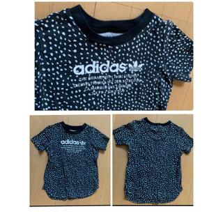 adidas - アディダスオリジナルス130 ジャージ&Tシャツセット 黒×白 3本ラインパンツ