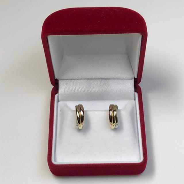 K18 pt900 フープピアス♡18金 プラチナ メンズのアクセサリー(ピアス(両耳用))の商品写真