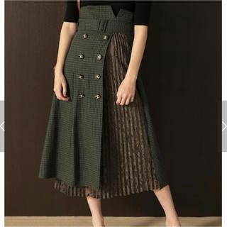 リリーブラウン(Lily Brown)のリリーブラウン レースプリーツ切替スカート(ひざ丈スカート)