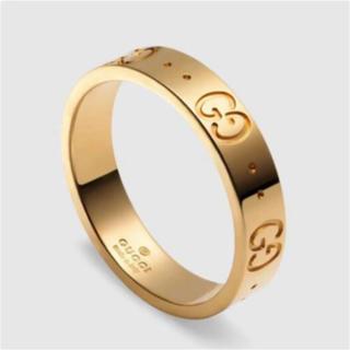 グッチ(Gucci)のGUCCI グッチ アイコンリング K18金ゴールド サイズ#6(リング(指輪))