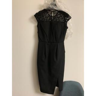 ラグナムーン(LagunaMoon)のラグナムーン黒ワンピース(ミディアムドレス)