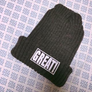 グレーロゴ入りニット帽(ニット帽/ビーニー)