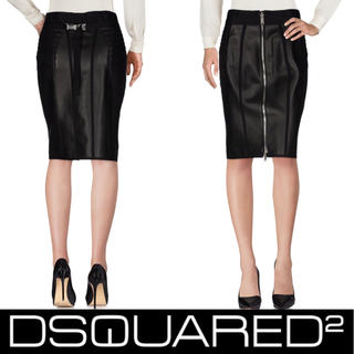 DIESEL - 3連休限定出品!処分価格!新品!Dsquared2 レザータイトスカート