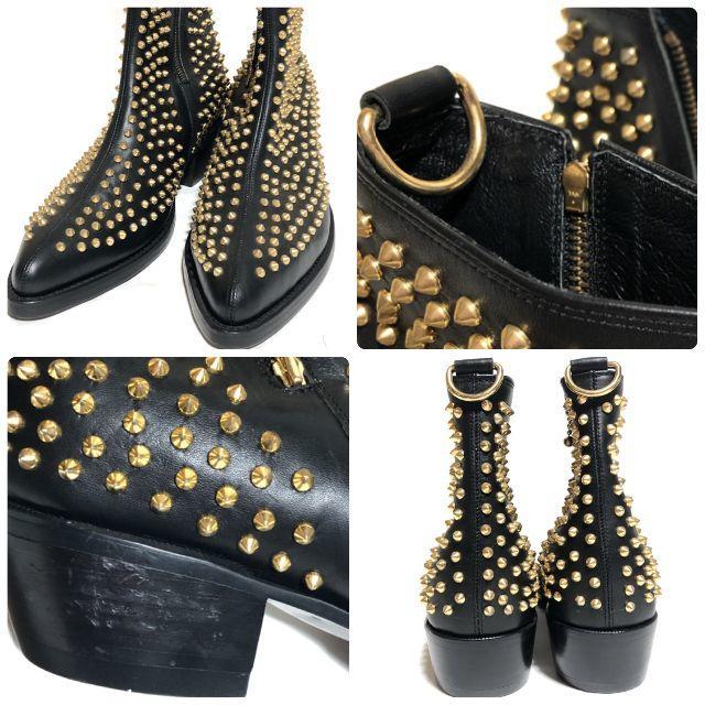 サイバーダイン CYbER dYNE スタッズダビデブーツ/ハーフジップ 希少品 メンズの靴/シューズ(ブーツ)の商品写真