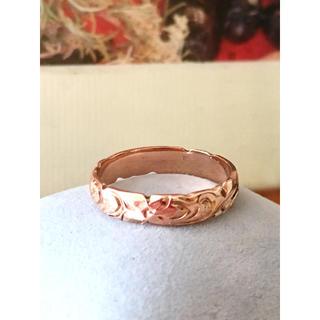 アーカー(AHKAH)のハワイアンジュエリー ピンクゴールド リング14K刻印入り(リング(指輪))