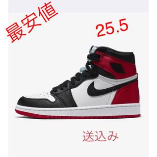 NIKE - NIKE Jordan 1 Black Toe Satin 23.5cm