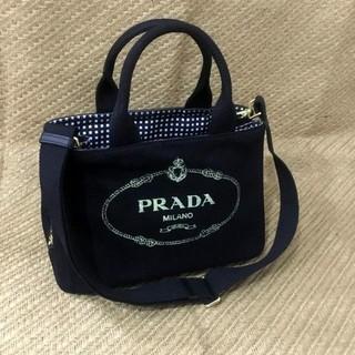 PRADA - プラダ 2WAY カナパ バッグ ギンガムチェックネロブラック