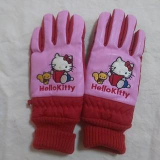 ハローキティ(ハローキティ)の女児 手袋 5ー6才ハローキティ 赤×ピンク  (手袋)