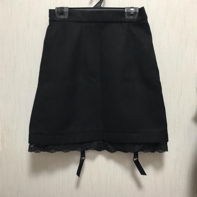 EATME(イートミー)の新品 eatme イートミー ブラックスカート ガーター付き レディースのスカート(ミニスカート)の商品写真