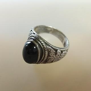 ブラックスター リング パワーストーン(リング(指輪))