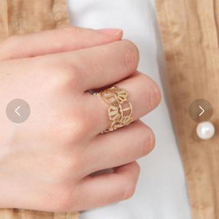 パピヨネ(PAPILLONNER)のゴールドリング PAPILLONNER 透かしリング ゴールド / FREE(リング(指輪))