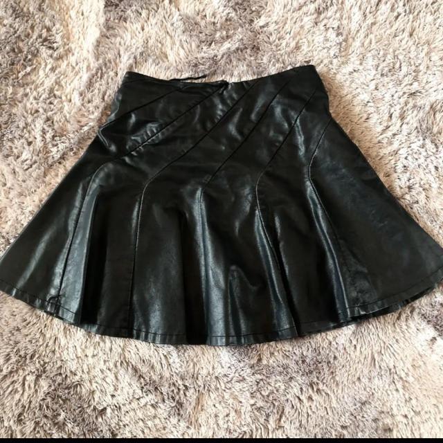 RINASCIMENTO(リナシメント)の【美品】レザースカート インポート レディースのスカート(ミニスカート)の商品写真
