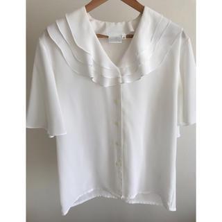 エディットフォールル(EDIT.FOR LULU)の半袖 ブラウスホワイト(シャツ/ブラウス(半袖/袖なし))