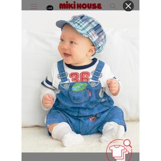 ミキハウス(mikihouse)のミキハウス リバーシブルワークキャップ 帽子(帽子)