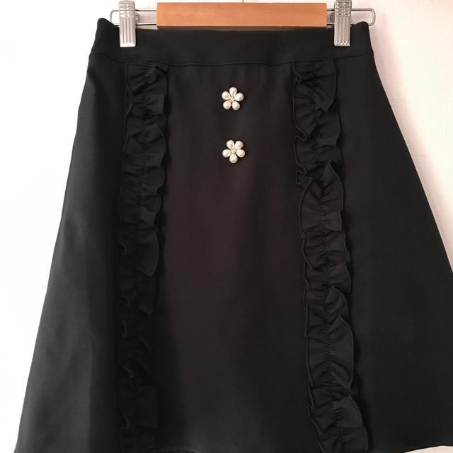 evelyn(エブリン)のパールフリルスカート レディースのスカート(ミニスカート)の商品写真
