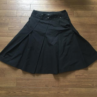 ケイタマルヤマ(KEITA MARUYAMA TOKYO PARIS)のケイタマルヤマ ビジュー フレアスカート(ひざ丈スカート)