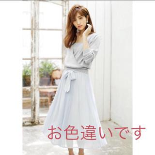 リランドチュール(Rirandture)の売り切り♡ 新品♡リランドチュール♡エアリープリーツスカート♡カーキ(ロングスカート)