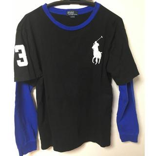 ポロラルフローレン(POLO RALPH LAUREN)のPolo Ralph Lauren 黒カットソーL(14-16)(Tシャツ/カットソー)