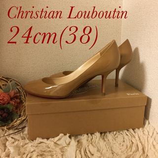 クリスチャンルブタン(Christian Louboutin)のルブタン  24cmパンプス キャメル(ハイヒール/パンプス)