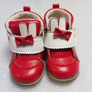 シャーリーテンプル(Shirley Temple)のシャーリーテンプル♥ラビットシューズ♥赤♥16cm(スニーカー)
