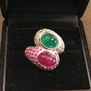 リング ダイヤモンド ルビー エメラルド 指輪 アクセサリー(リング(指輪))