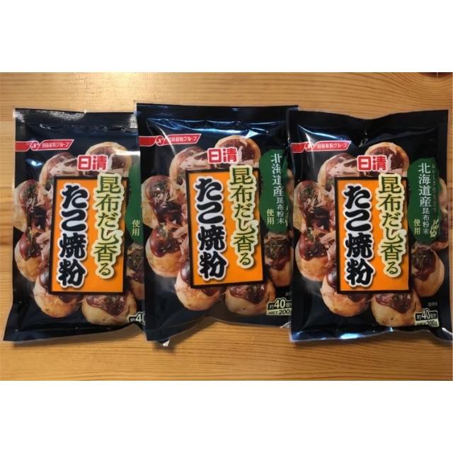 日清製粉(ニッシンセイフン)の日清 昆布だし香る たこ焼き粉 食品/飲料/酒の食品(米/穀物)の商品写真