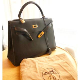 Hermes - 直営店購入 正規品 エルメスケリー32 ダークブラウン系 外縫い