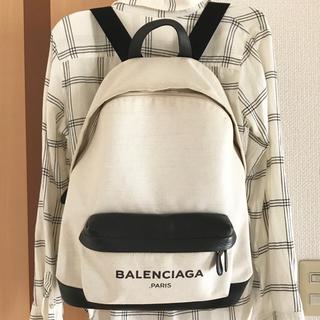 バレンシアガ(Balenciaga)のバレンシアガ BALENCIAGA リュック バックパック キャンバス レザー(バッグパック/リュック)