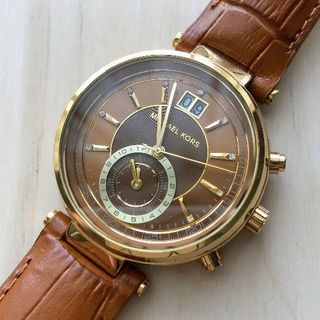 Michael Kors - MICHAEL KORS 腕時計 ブラウンレザー MK2424