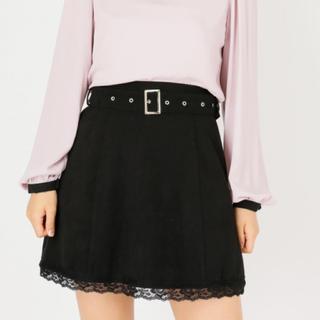 Ank Rouge - アンクルージュ ベルト付き台形スカート