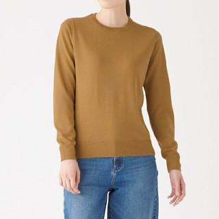 MUJI (無印良品) - ◆新品◆ 無印良品ウールシルク洗えるクルーネックセーター/キャメル/M