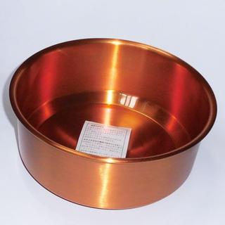 タニタ(TANITA)のタニタ TANITAの純銅製 湯桶(洗面器) 未使用品です(その他)