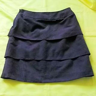 しまむら/パープルひざ丈スカート/w67(ひざ丈スカート)