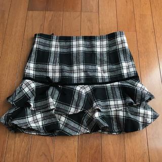 ハニーズ(HONEYS)のGLACIER チェック スカート M(ひざ丈スカート)
