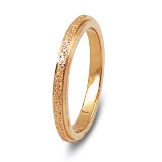 リング 指輪 ピンクゴールド サンドブラスト サージカルステンレス レディース(リング(指輪))