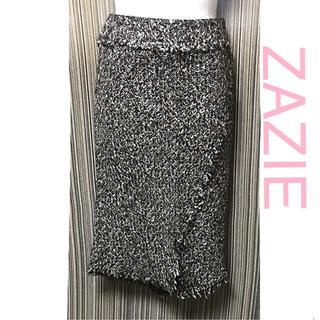 ZAZIE - ZAZIE☆ツイード スカート モノトーン ザジ