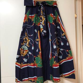 ZARA - ZARA スカーフ柄マキシ丈スカート