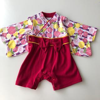 ベルメゾン(ベルメゾン)のお着物ロンパース 70㎝(和服/着物)