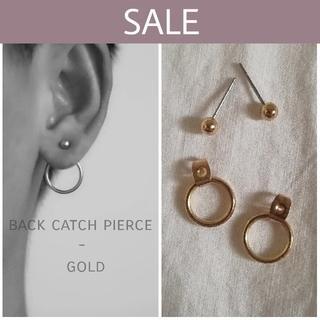 マウジー(moussy)の【数量限定セール】back catch pierce  *  gold(ピアス)