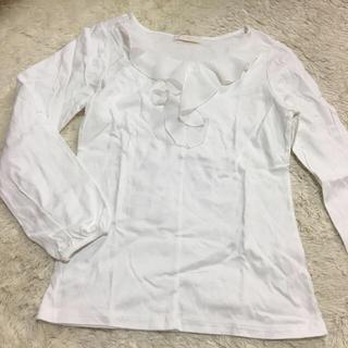 エニィスィス(anySiS)のanySIS 綿100 Tシャツ オシャレ 白(Tシャツ/カットソー(半袖/袖なし))