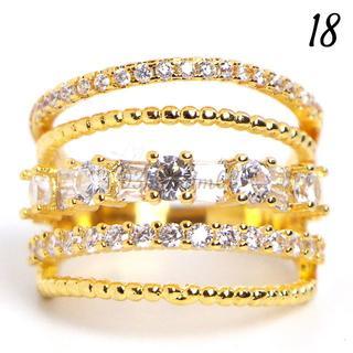 W11 リング 18号 人石 ホワイトサファイア 大きいサイズ(リング(指輪))